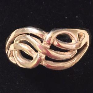 Vint 925 SterlingSilver Ring InfinityDesign sz11.9